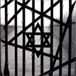 The gates of the Jewish Memorial at Dachau Concentration Camp Memorial Site in Dachau, Germany. The Jewish Memorial was erected in 1967.